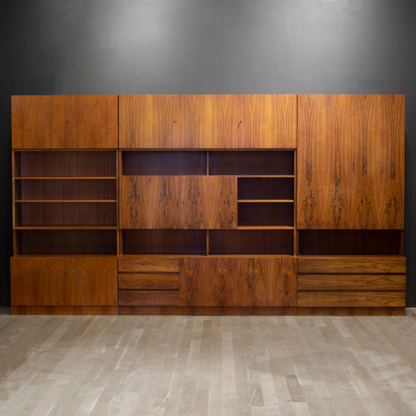 Mid-century Rosewood Modular Wall Unit Designed by Georg Satink for WK Mobel c.1950