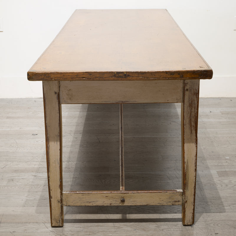 Large Oak Farmhouse Table, circa 1890-1910