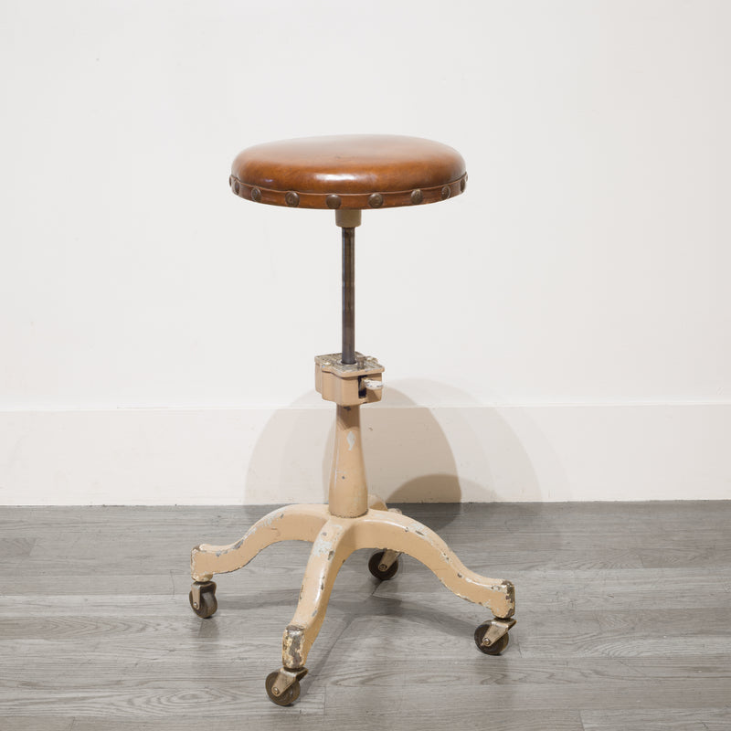 Adjustable Hydraulic Optometrist Stool c.1930