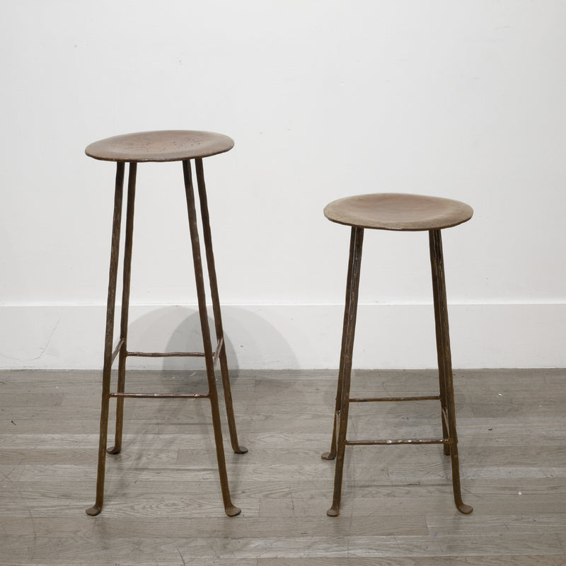 Hand Made Steel Factory Stools/Stands c.1930
