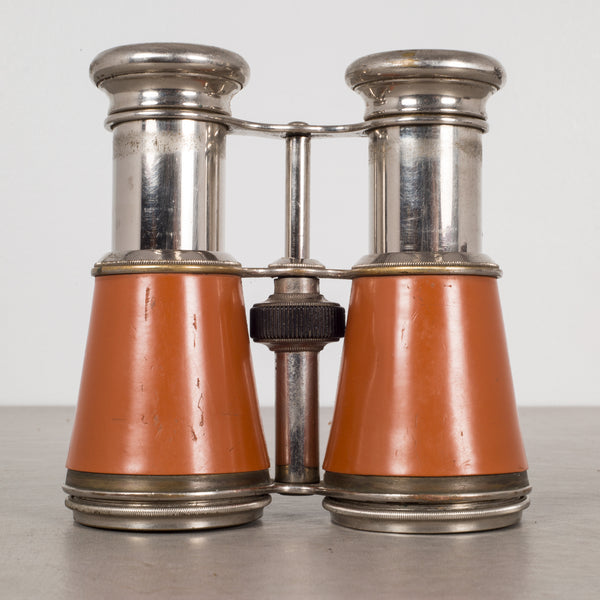 French Galilean Binoculars and Leather Case by Iris de Paris c.1880