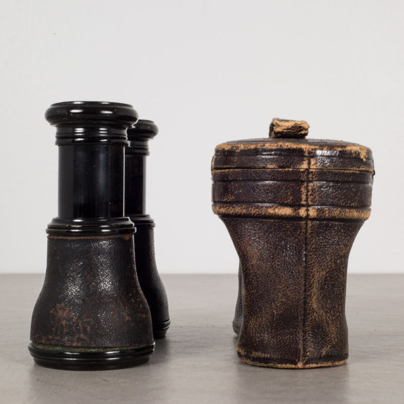 German Opera Glasses and Leather Case Alois Schwarz Wein c.1880