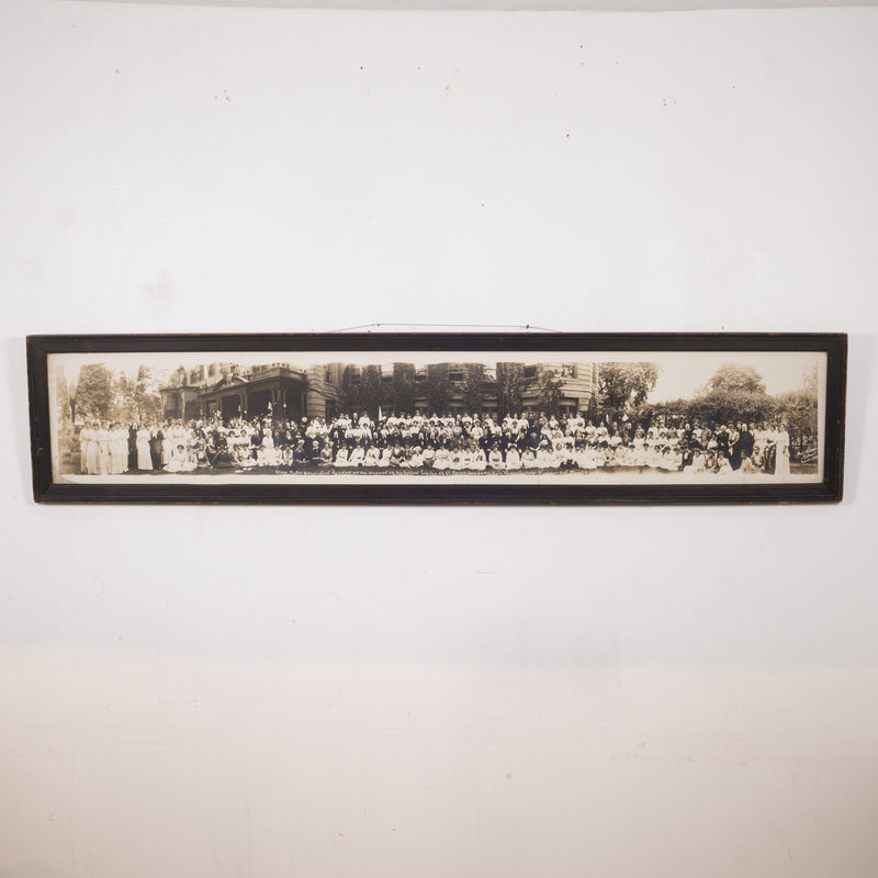 "Early 20th c. Panoramic Photo ""Holy Names College"" c.1914"