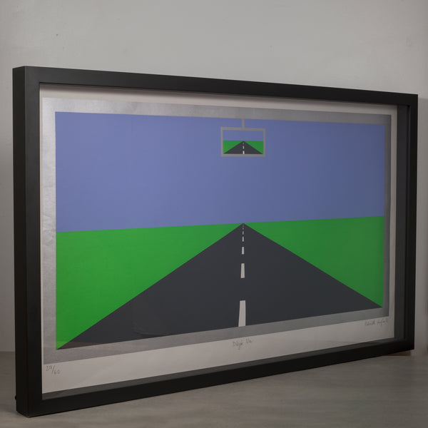 "Limited Edition Screen Print ""Deja Vu"" by Patrick Hughes c.1976"