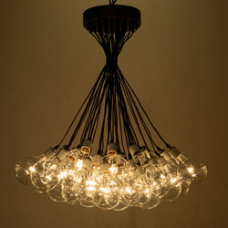 Populated Chandelier with Bronze Accents