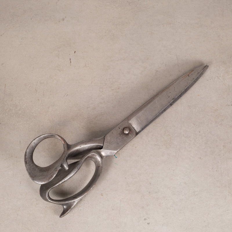 Large Antique Cast Iron Upholstery Shears c.1920