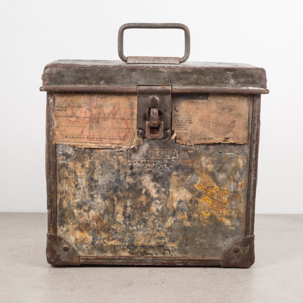 Antique Railway Express Agency Shipping Strongbox c.1930s