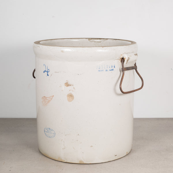 Ceramic 4 Gallon Crock by Red Wing Union Stoneware Company c.1915