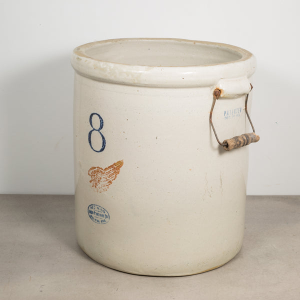 Ceramic 8 Gallon Crock by Red Wing Union Stoneware Company c.1915