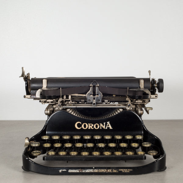 Antique Corona Flip Top Portable Typewriter c.1917