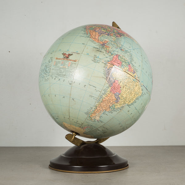"Antique Replogle 10"" Standard Globe c.1949"