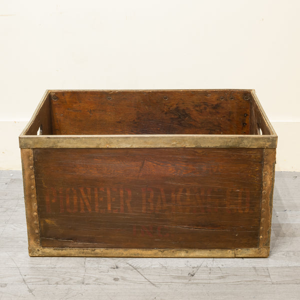 Wood and Metal Bakery Crate c.1940