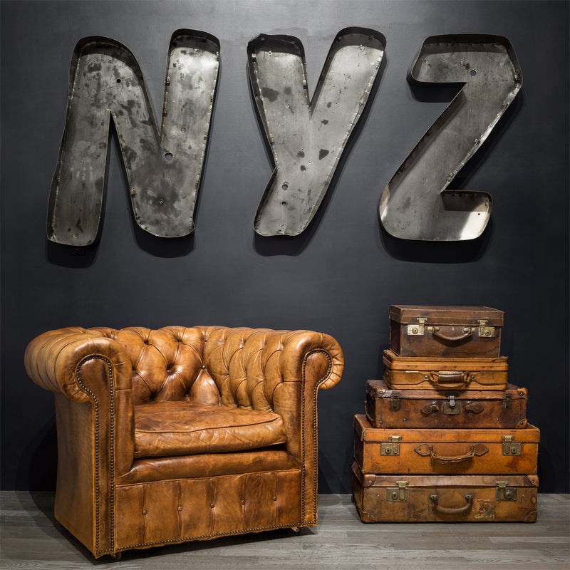 "Large Vintage Channel Letters ""NYZ"" c.1950"