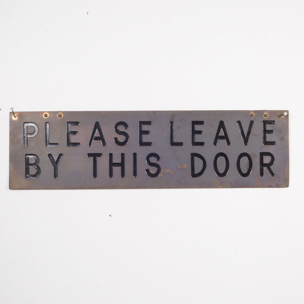 Vintage Brass Plated Sign c.1960