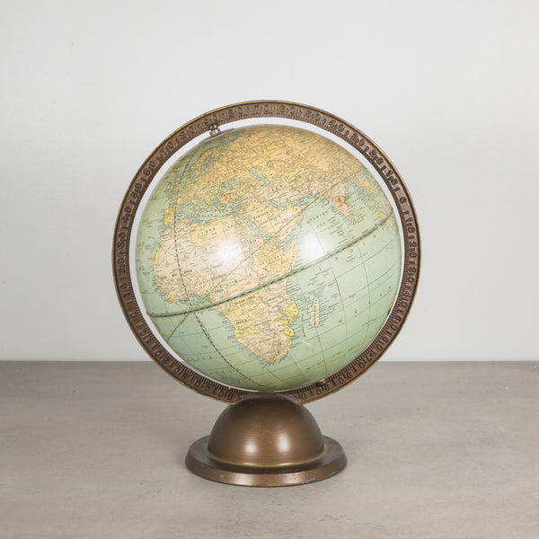 Art Deco Cram's Small Terrestrial World Globe c.1920
