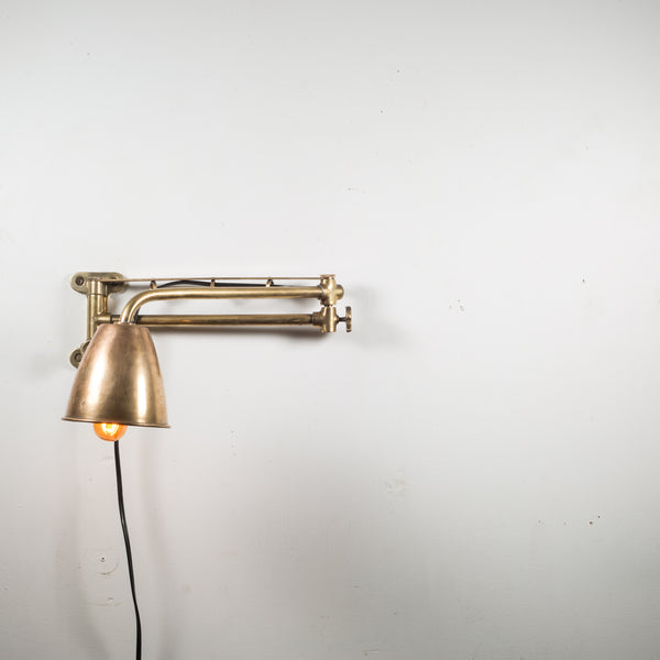 Antique Bronze and Copper Articulating Boat Sconce c.1900-1930