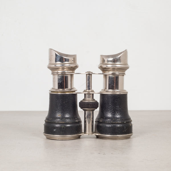 19th c. Leather Wrapped Sportier Paris Binoculars c.1880