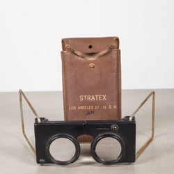 Magnifying Map Reader and Leather Case c.1940