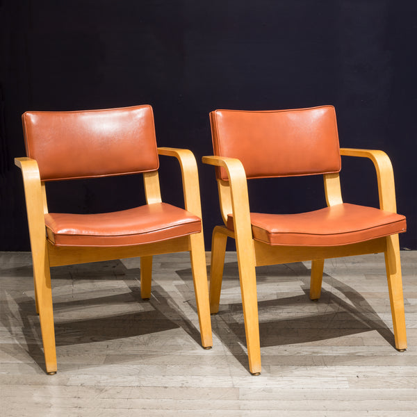 Pair of Mid-century Thonet Bentwood Armchairs c.1950