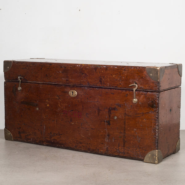 Mahogany and Brass Transit Scope Box c.1920
