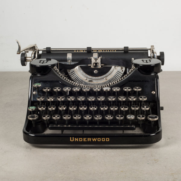 Antique Underwood Universal Portable Four Bank Typewriter c.1935