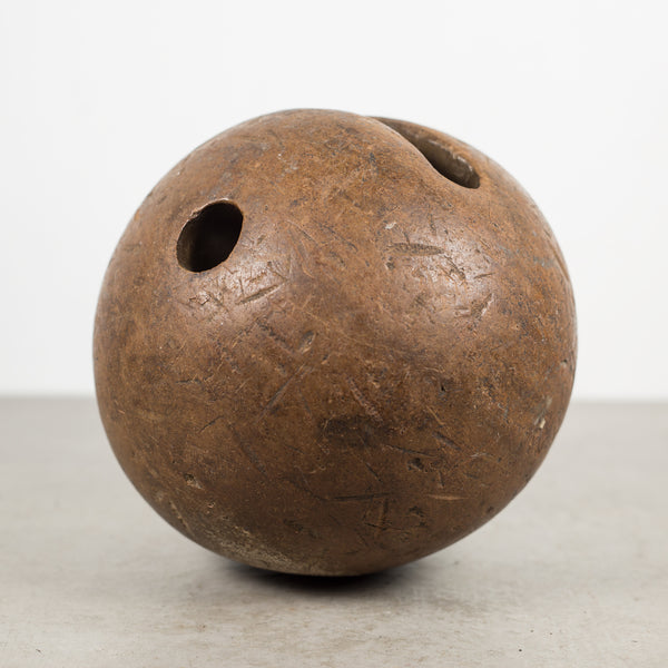 19th c. Hand Carved Lingum Vitae Bowling Ball c.1800s