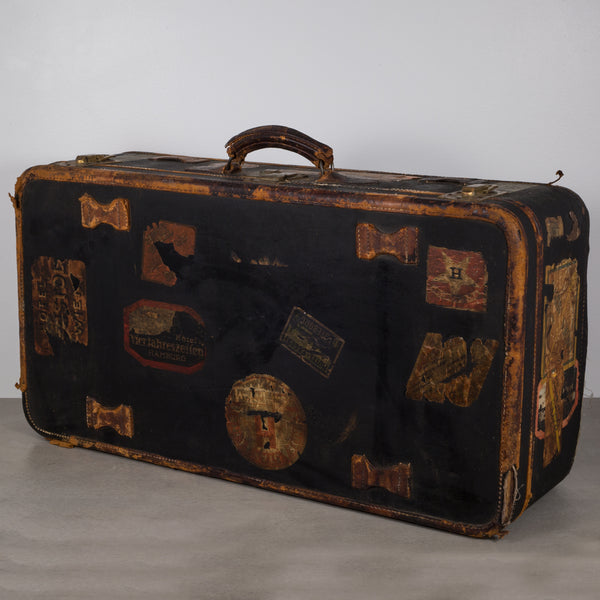 Antique Luggage with Original Travel Stickers c.1900-1930