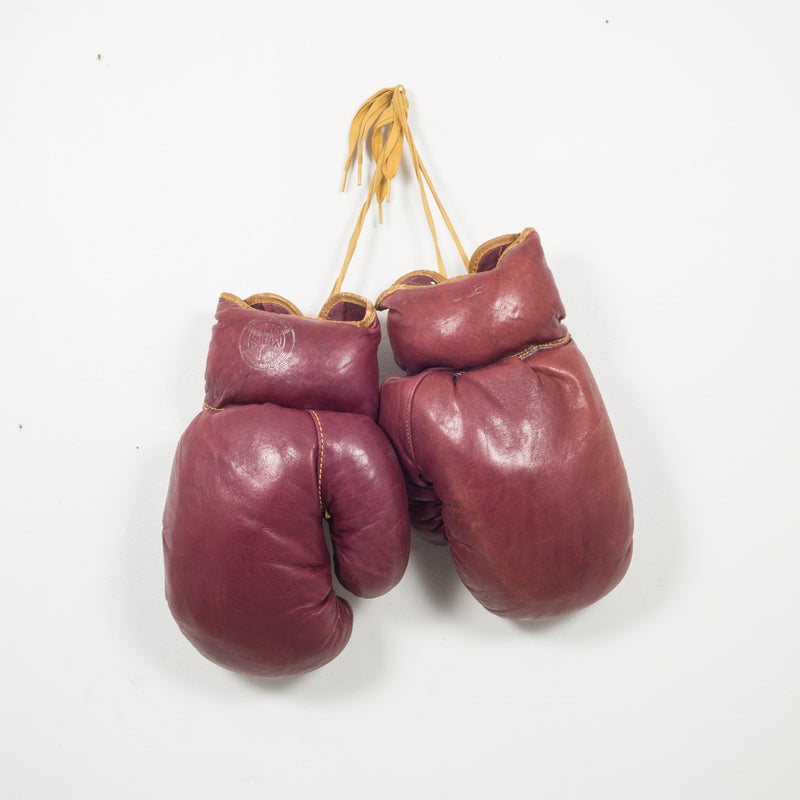 KD Philadelphia Leather Boxing Gloves c. 1950