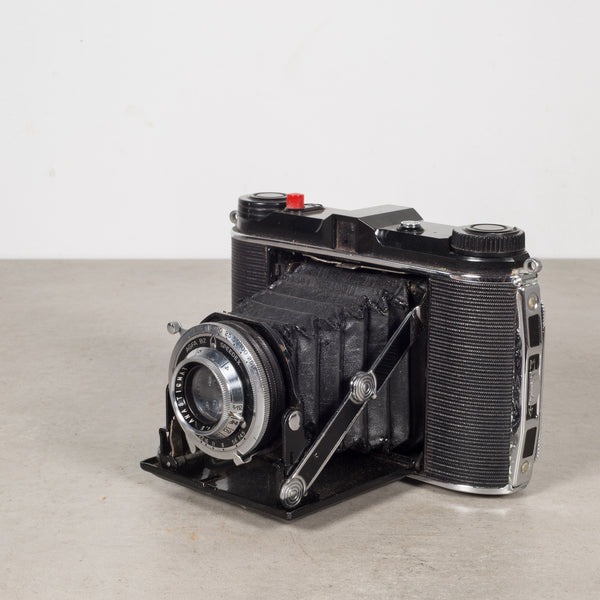 Speedex Folding Camera with Leather Case c. 1940
