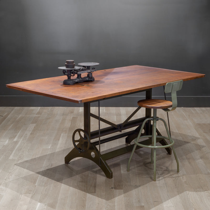 Charles Bruning Adjustable Dining/Desk Drafting Table c.1940-1950