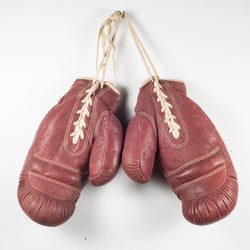Pair of Vintage Horse Hair and Leather Boxing Gloves c.1920