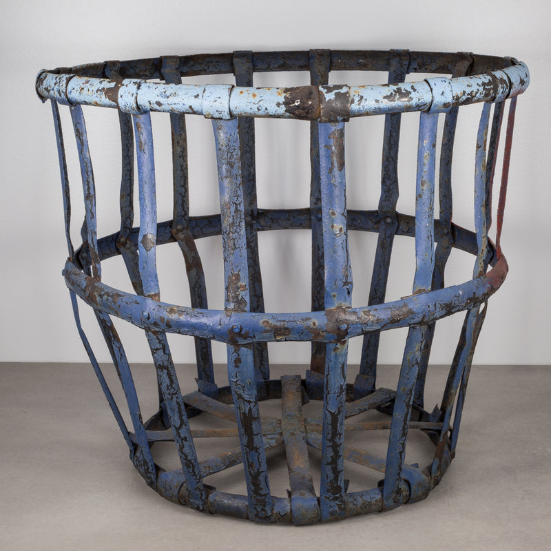 Metal Industrial Iron Basket c.1920-1930
