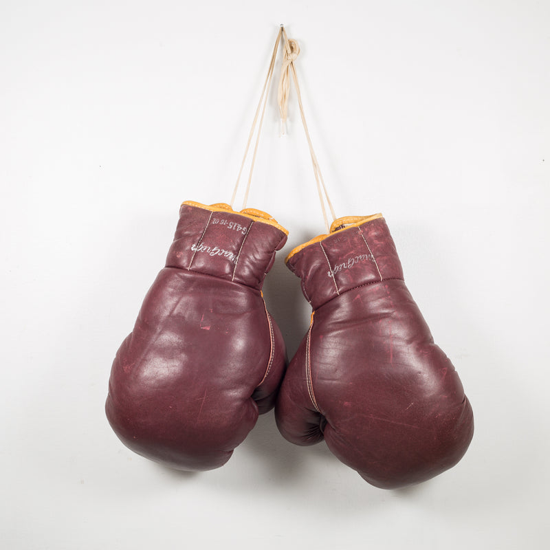 Leather MacGregor Boxing Gloves c.1950
