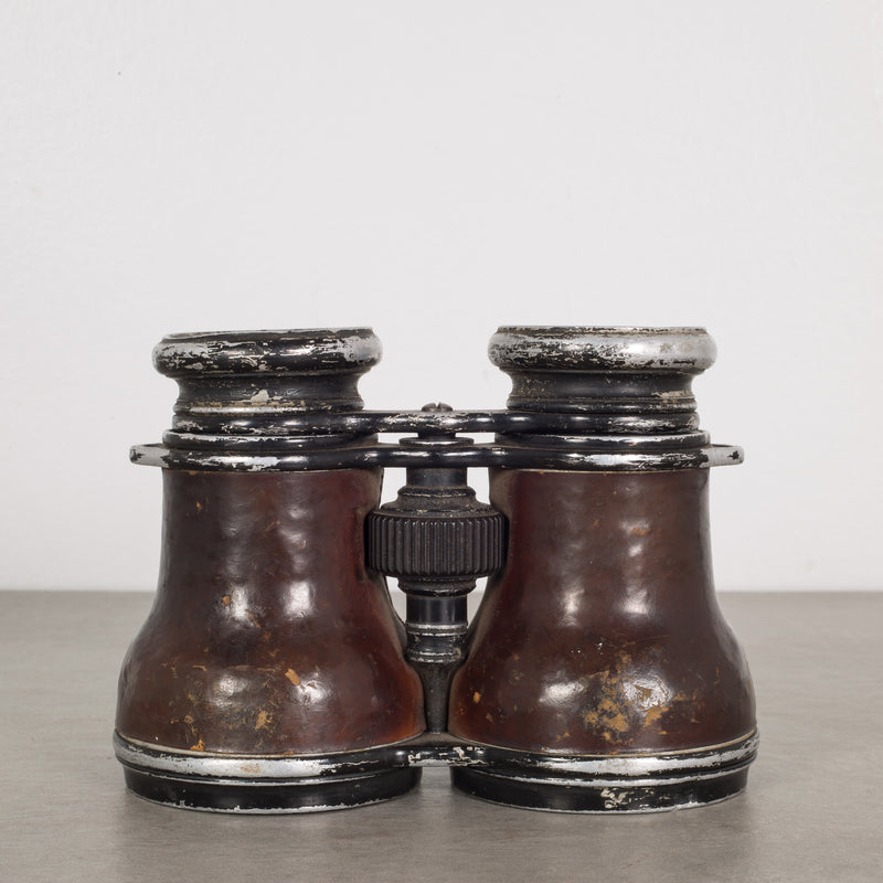 Leather Military Binoculars c.1940s