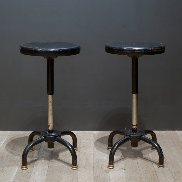 "Metal ""Adjusto"" Swivel Counter Stools c.1970"