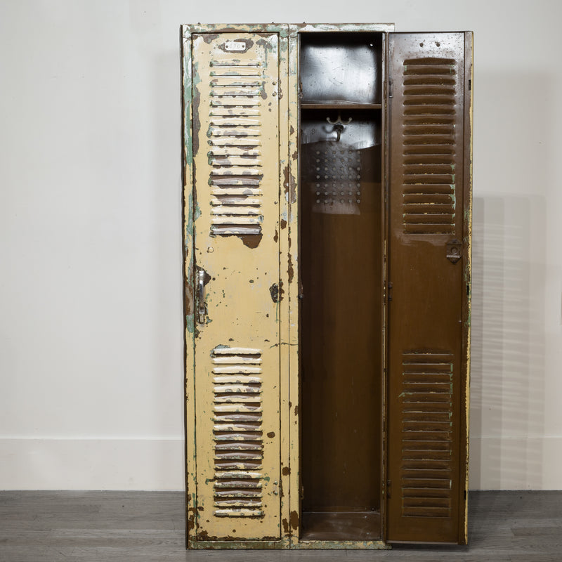 Mid-century Distressed School Gym Lockers c.1950