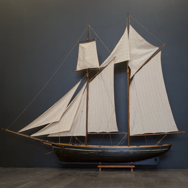 Early 20th c. Wooden Monumental Ship Model c.1940