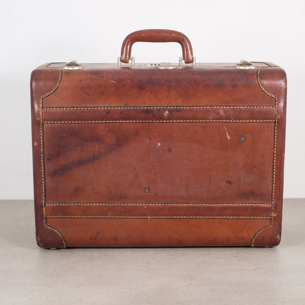 Monogrammed Small Leather Luggage c.1940