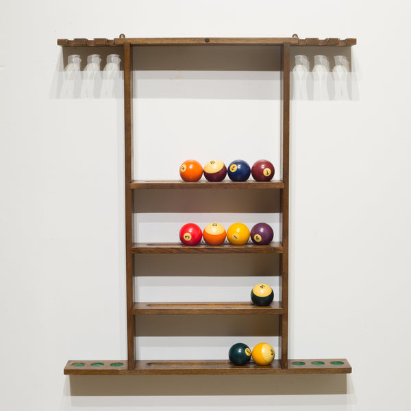 Billiard Pool Cue Rack c.1940