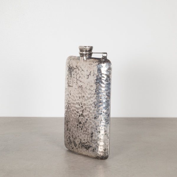 Patinated Apollo Silver Co. Hammered Flask c. 1920