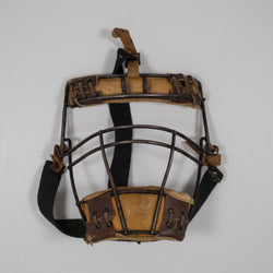 Leather, Steel and Rawhide Spalding Catcher's Mask c.1930