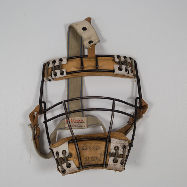 Steel Wire and Leather Catcher's Masks by Wilson c.1930