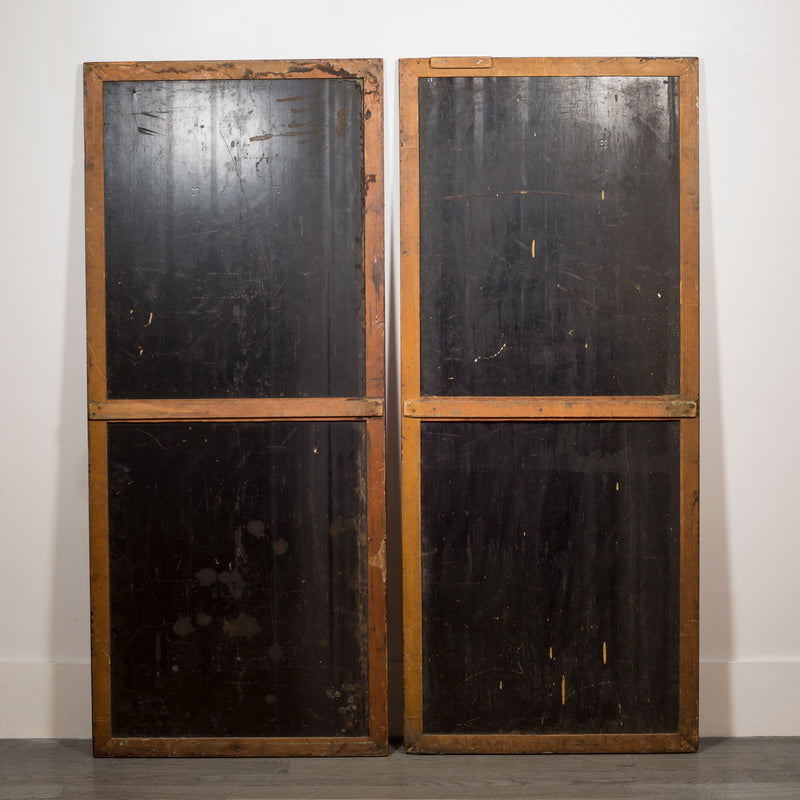Pair of Antique Chalkboard Pool Hall Scoreboards c.1940