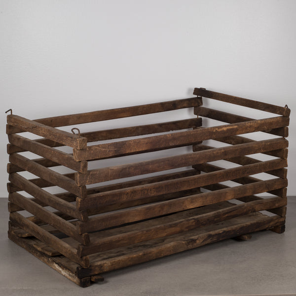 Early 20th c. Collapsible Wooden Poultry Crate, circa 1920s-1940s