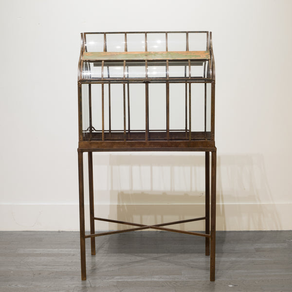 Early 20th c. Wrought Iron Wardian Case on Stand c.1900