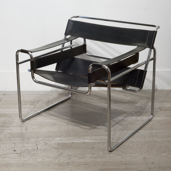 Mid-century Leather Marcel Breuer for Knoll Wassily Chair c.1960