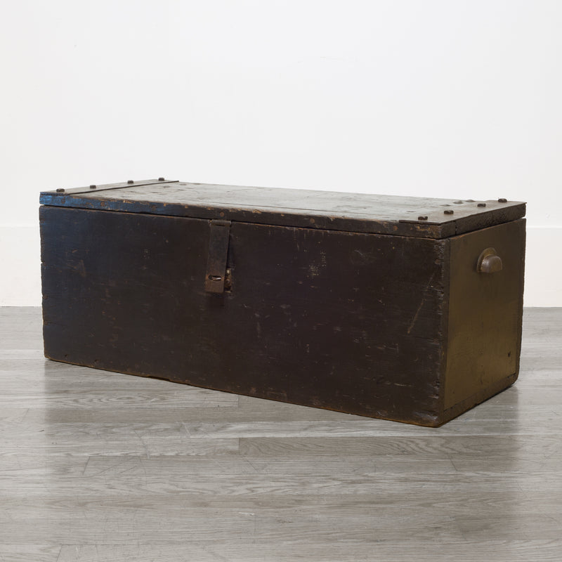 Early 20th c. Wood and Steel Primitive Chest c.1930