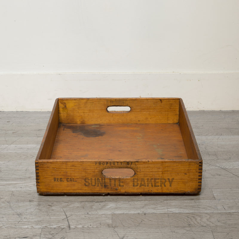 Early 20th c. Wooden Baker's Bread Tray c.1930
