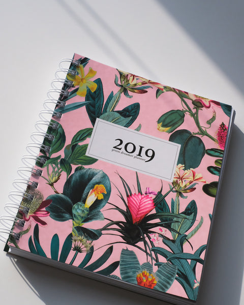 "Green Dreamer Planner (JUNGLE) 6.75"" x 8.25"""