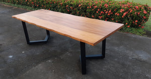 Mahogany Faux Live-Edge Table